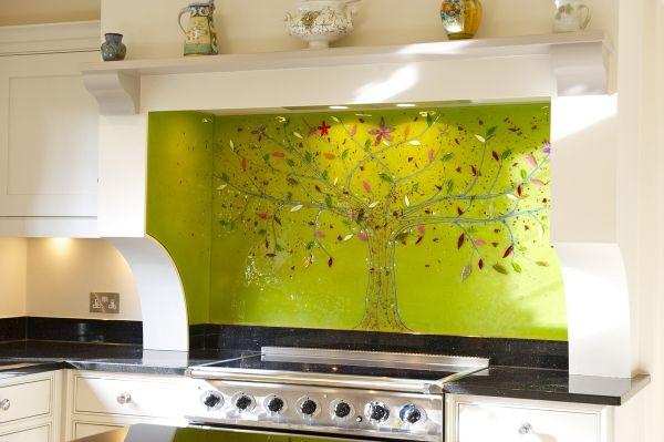 Bespoke Fused Glass Art Kitchen Splashbacks - Tree of Life | Glass ...