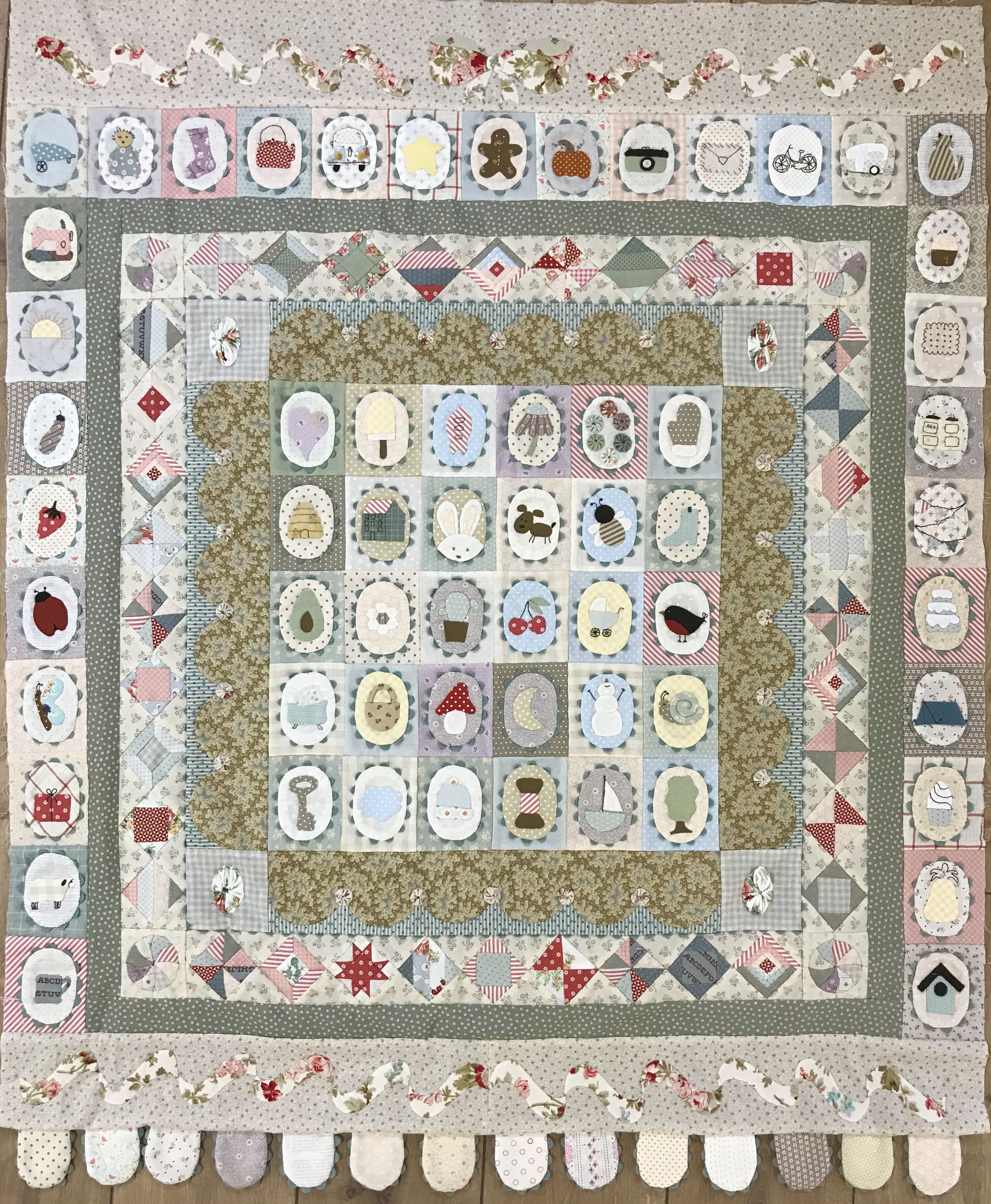 Quilt It Dorry.Darcy Mystery Bom Designed And Made By Dorry Van Osch From