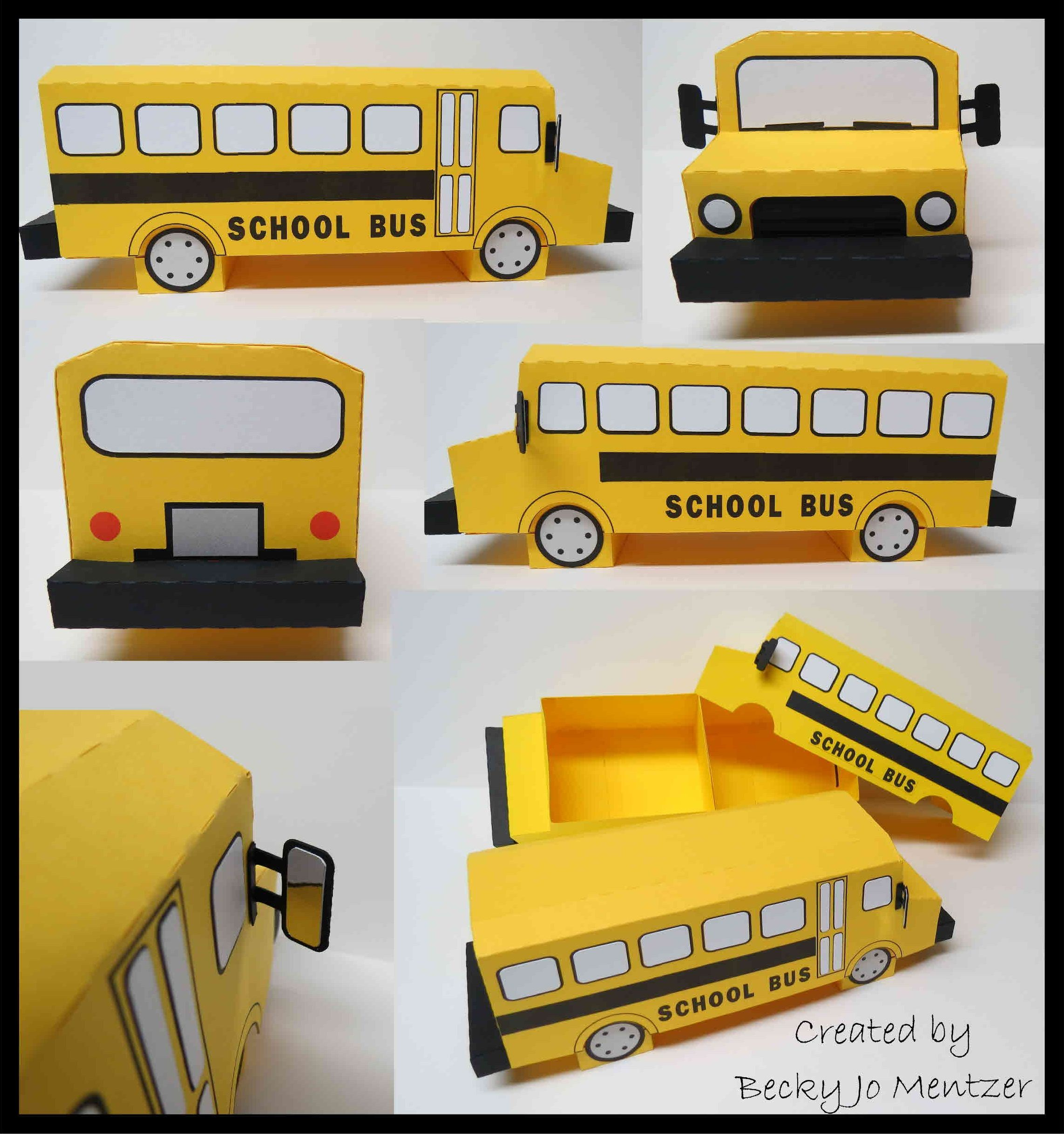 3d School Bus Box - designed by Snapdragon Snippets - Silhouette ...