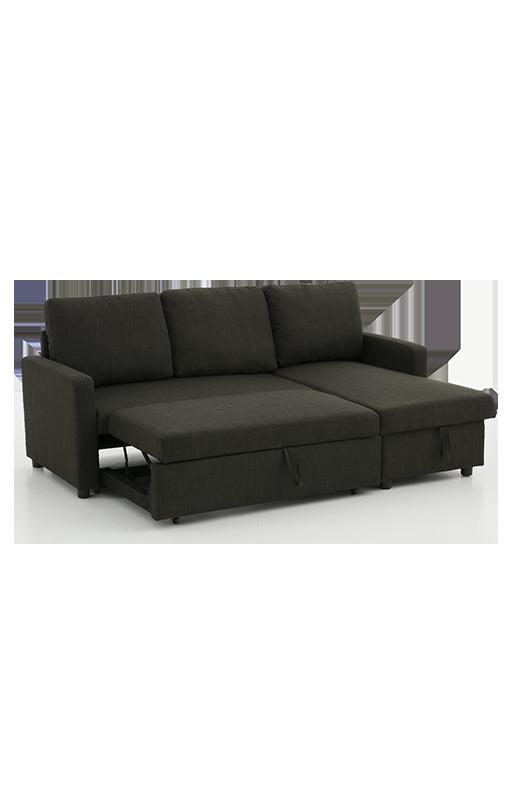 Image Pour Sofa Lit Sectionnel Reversible En Lin Gris Fonce A Partir De Econo En 2020 Sofa Lit Lit Lit Au Sol