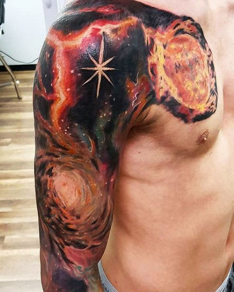 70 Outer Space Tattoos For Men  Galaxy And Constellations 70 Outer Space Tattoos For Men  Galaxy And Constellations