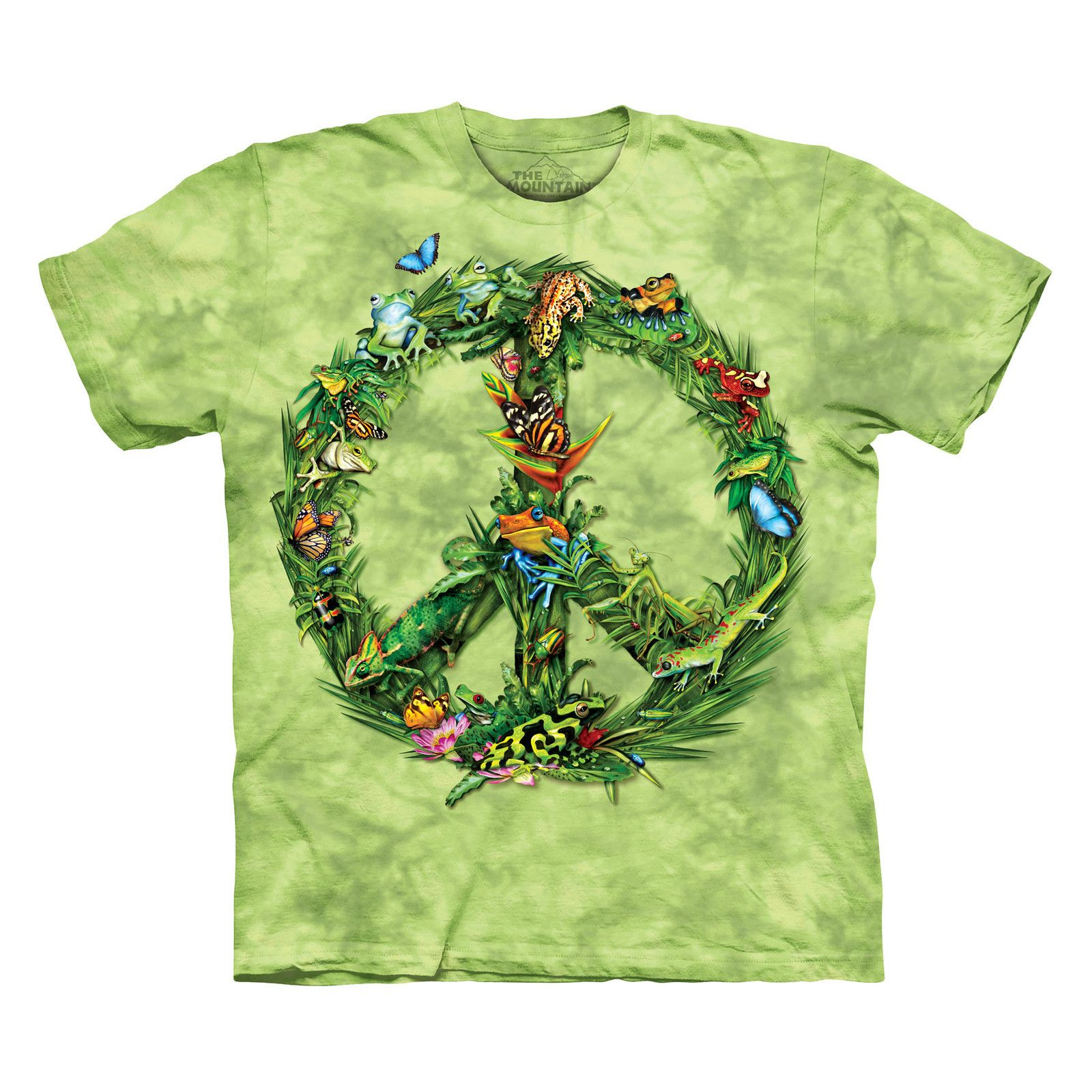 THE MOUNTAIN RAINFOREST PEACE SIGN SIZE MEDIUM RAIN FOREST TREE ...