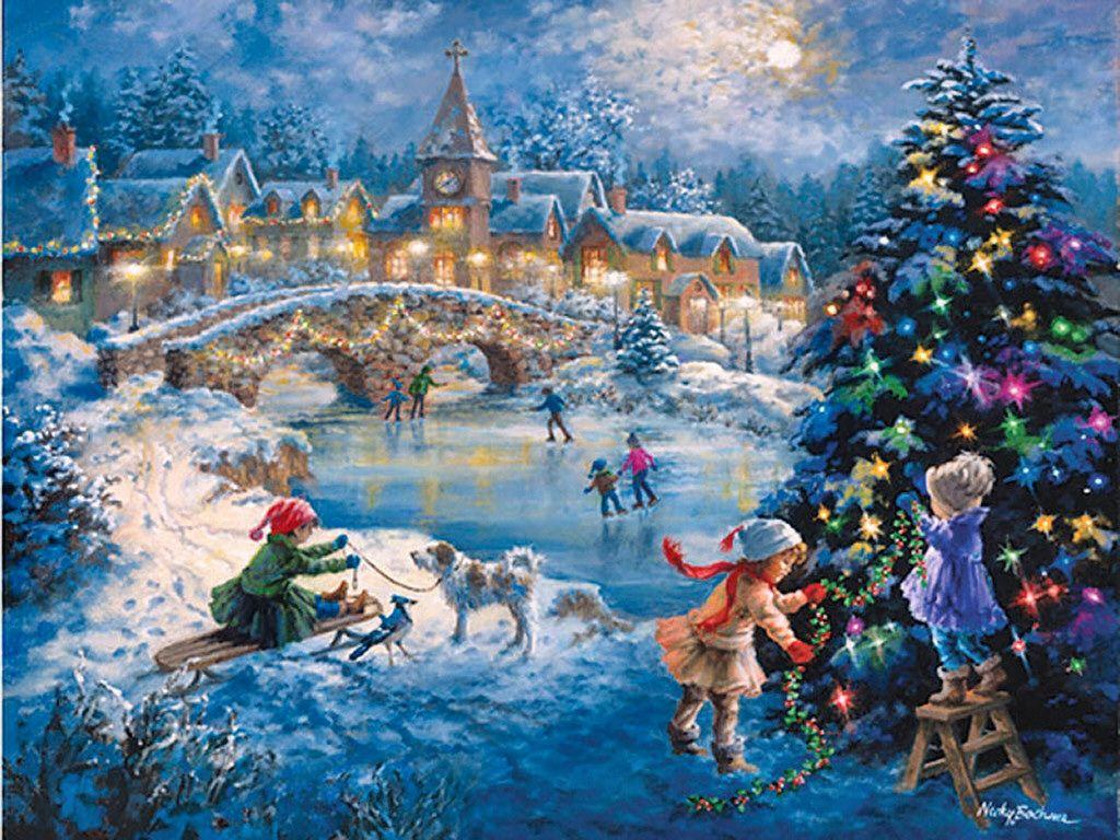 Картинка рождественская сказка, днем рождения владик