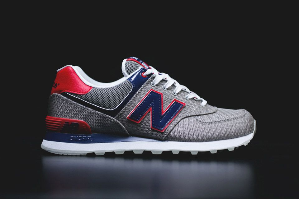 new balance ml 574 - sneaker - navy\/white pumps