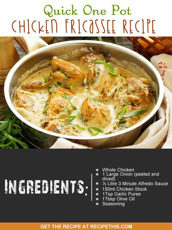 One Pot Cooking | Quick One Pot Chicken Fricassee Recipe