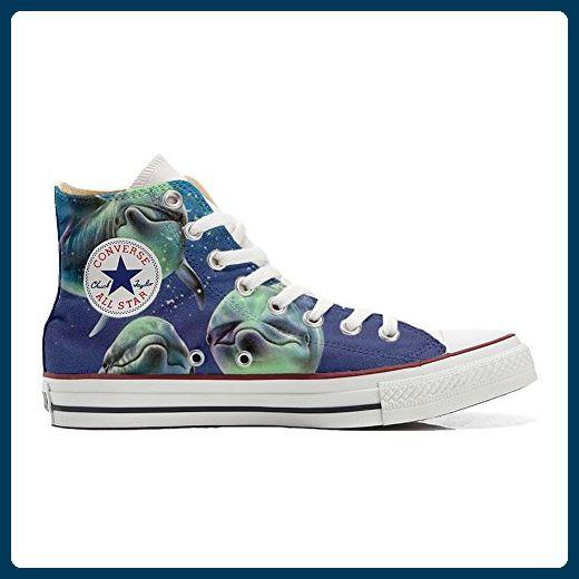 Converse All Star Hi Customized personalisierte Schuhe (Handwerk Schuhe) Green Fantasy