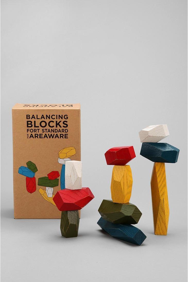 Areaware Balancing Blocks Brinquedos De Madeira Brinquedos E