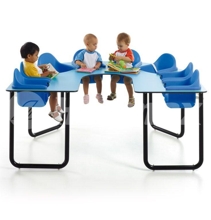 Mesa colectiva de estimulación de 8 bebes para guarderías infantiles ...