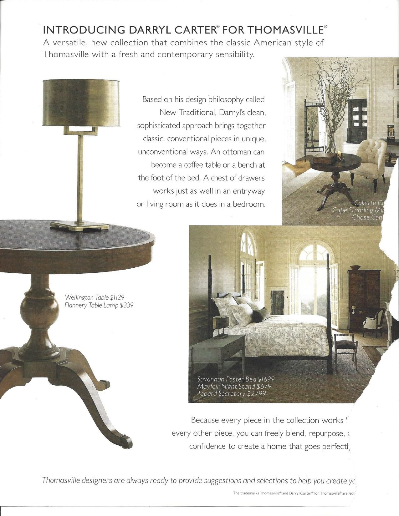 Darryl Carter For Thomasville New Collection Furniture