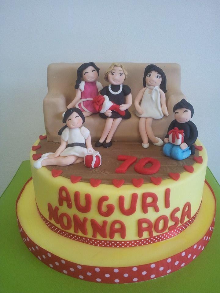 Torta Compleanno 70 Anni Torte Decorazioni In Pasta Di