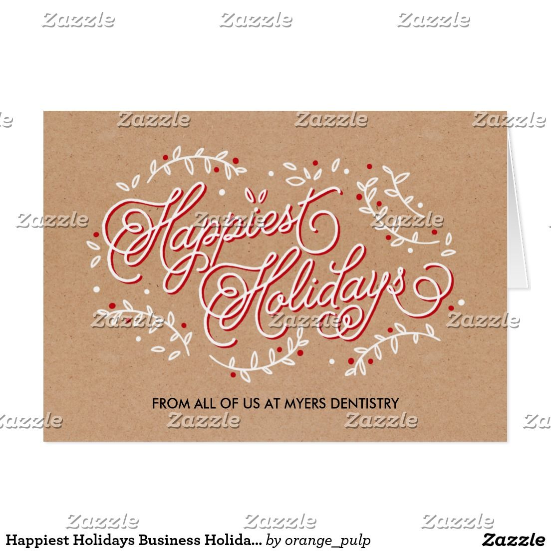 Happiest Holidays Business Holiday Greeting Card | Season Greeting ...
