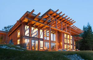 Modern Timber Frame Home