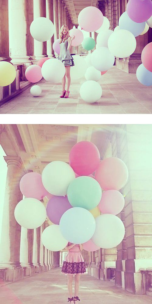 Love this - simple but very pretty! :-) Cool photo idea: balloons