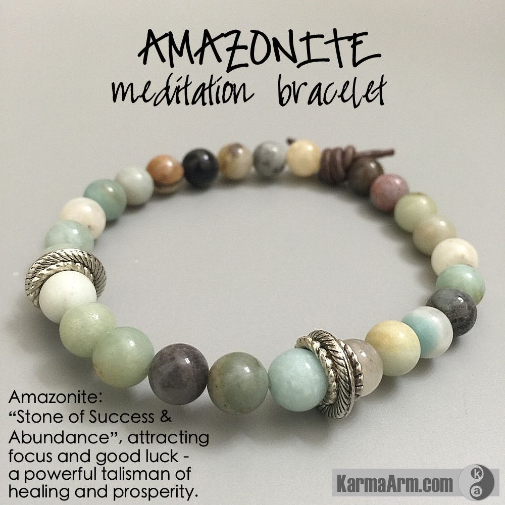 "Amazonite is a ""Stone of Success and Abundance"", attracting focus and good luck. The Amazonite stone is a powerful talisman of healing and prosperity. #love #yoga #manifest #heart #bracelet #goals #friendship #happiness #bead #meditate #mantra #healing #zen #karma #prayer #spiritual #friendship #lucky #luck #luxury #power #energy #crystal #motivate #chakra #Om #mani #Buddha #mantra #meditation"