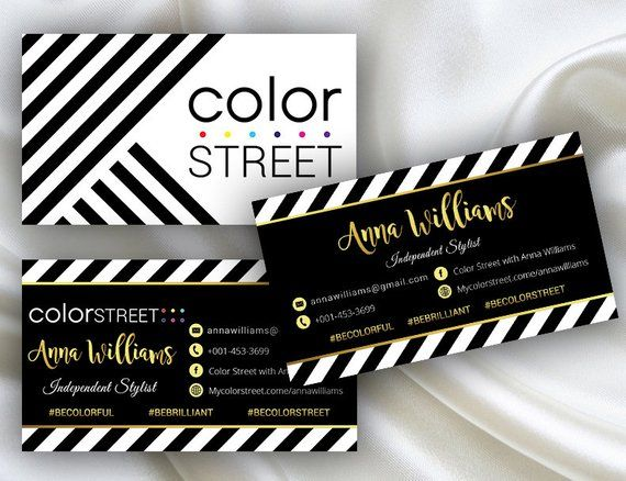 Printable Color Street Business Cards Color Street Application