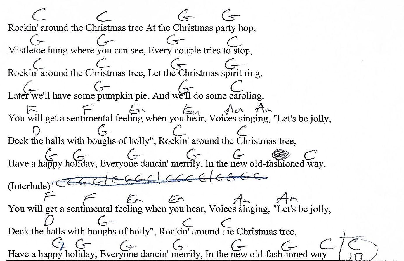 rockin around the christmas tree guitar chords | Christmaswalls.co