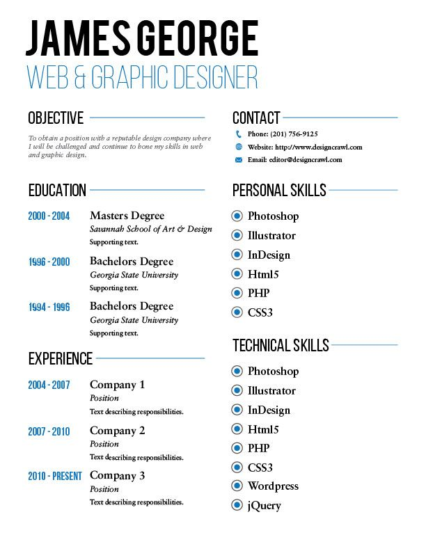Resumes Templates Free Download A Free Resume Template And Land Your Dream Jobthis Free