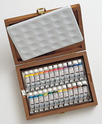 Schmincke Horadam Watercolour Wooden Box Set 24x5ml Tubes