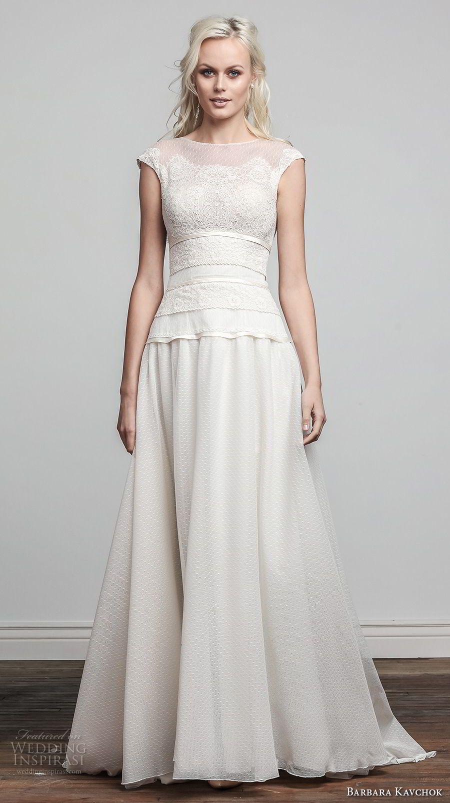 Barbara kavchok spring wedding dresses romantic wedding