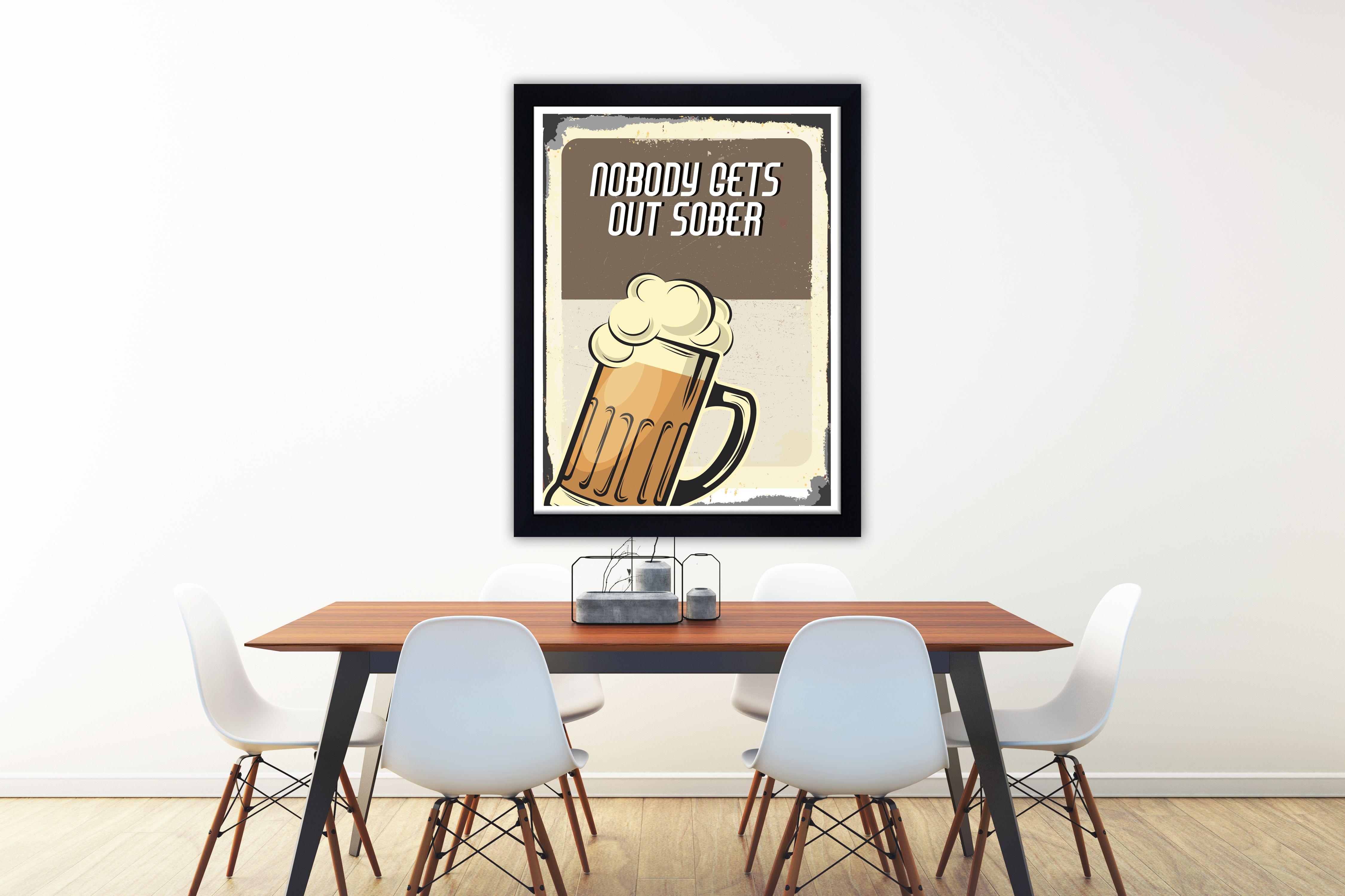 Alcohol wall art alcohol art print beer wall art beer art print
