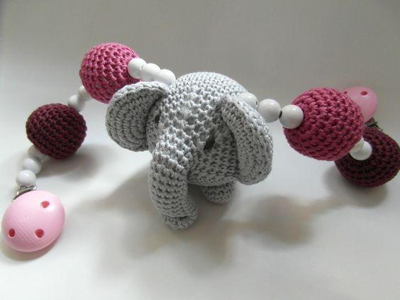 Niedliche Kinderwagenkette Zum Häkeln Mit Elefant Baby Pinterest