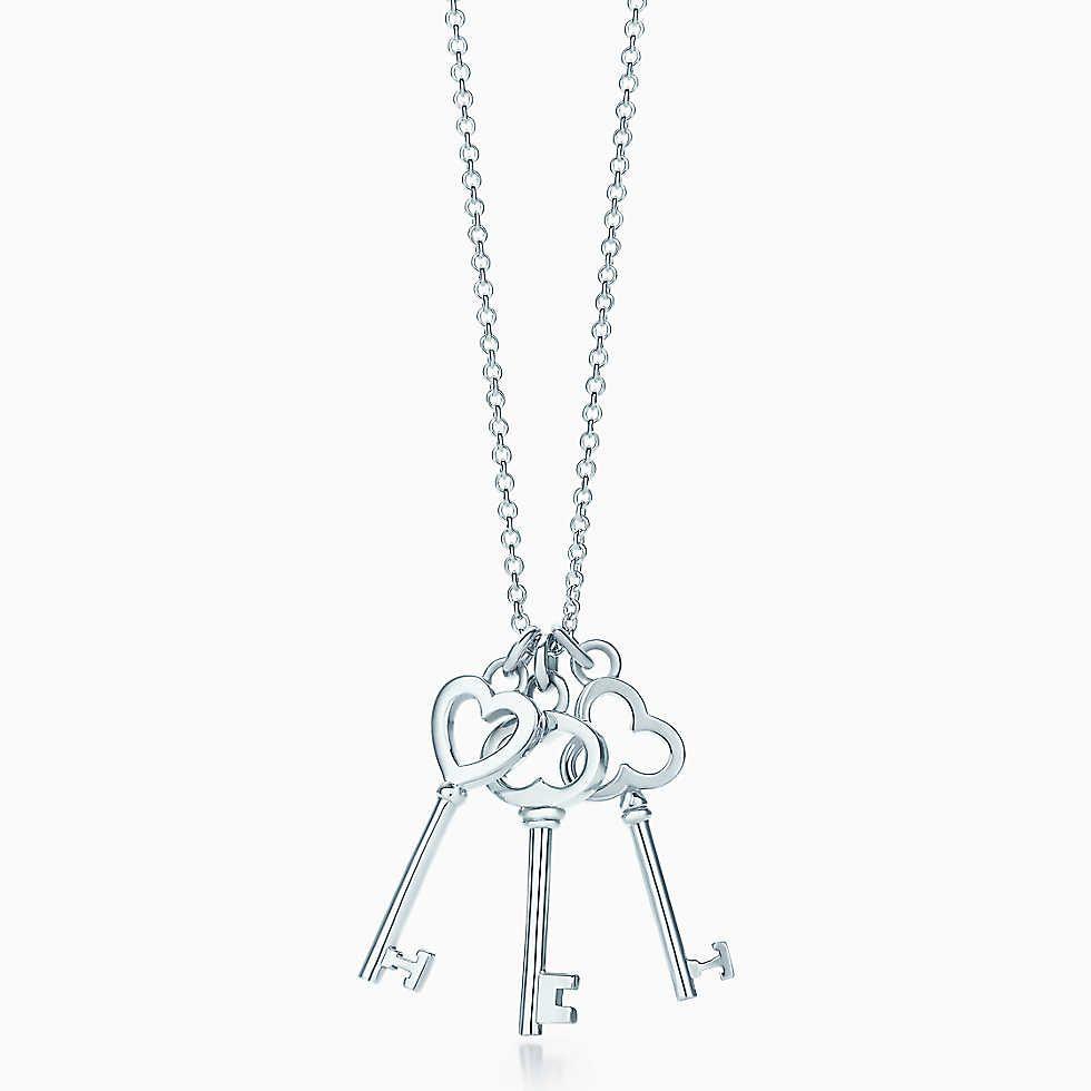 Tiffany keys mini three key pendant in sterling silver tiffany tiffany enchant heart key pendant in sterling silver medium aloadofball Gallery