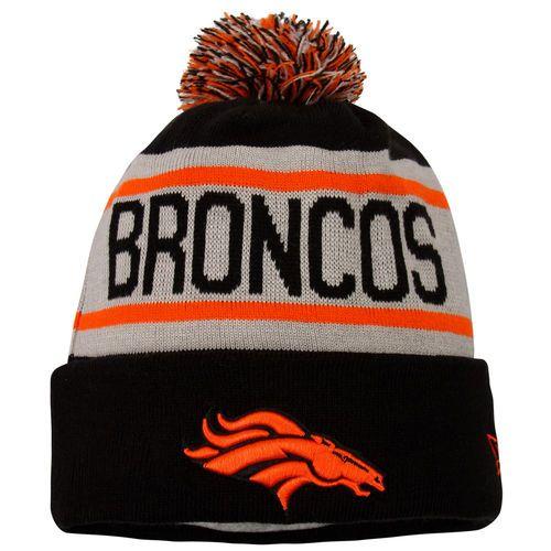 Men s New Era Black Denver Broncos Biggest Fan Redux Cuffed Knit Hat ... 7bec516fe