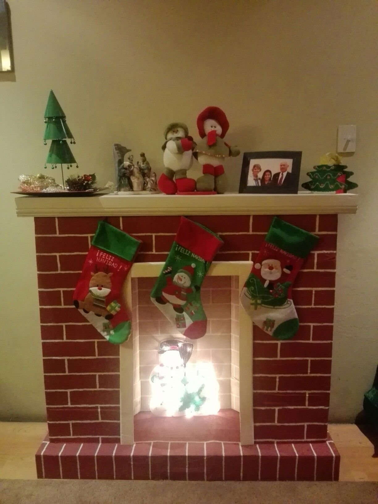 chimeneas navideñas reciclables