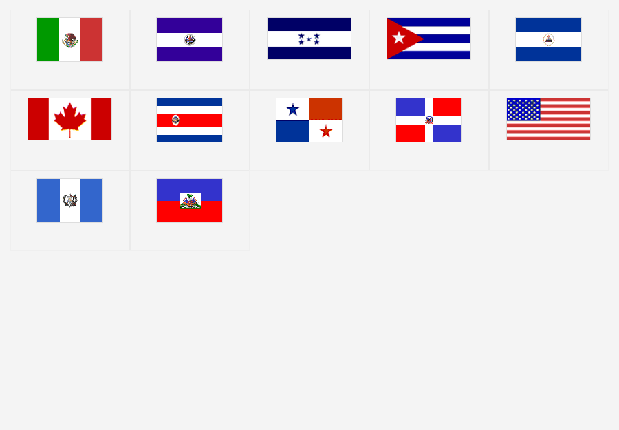 North And Central America Flags Map Quiz Game Hs Flag Info