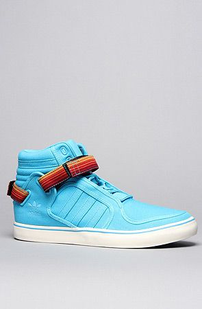 new styles 61166 38e61 My jaw just dropped -- adidas The AdiRise Mid Canvas Sneaker in Super Cyan  Chalk   Karmaloop.com