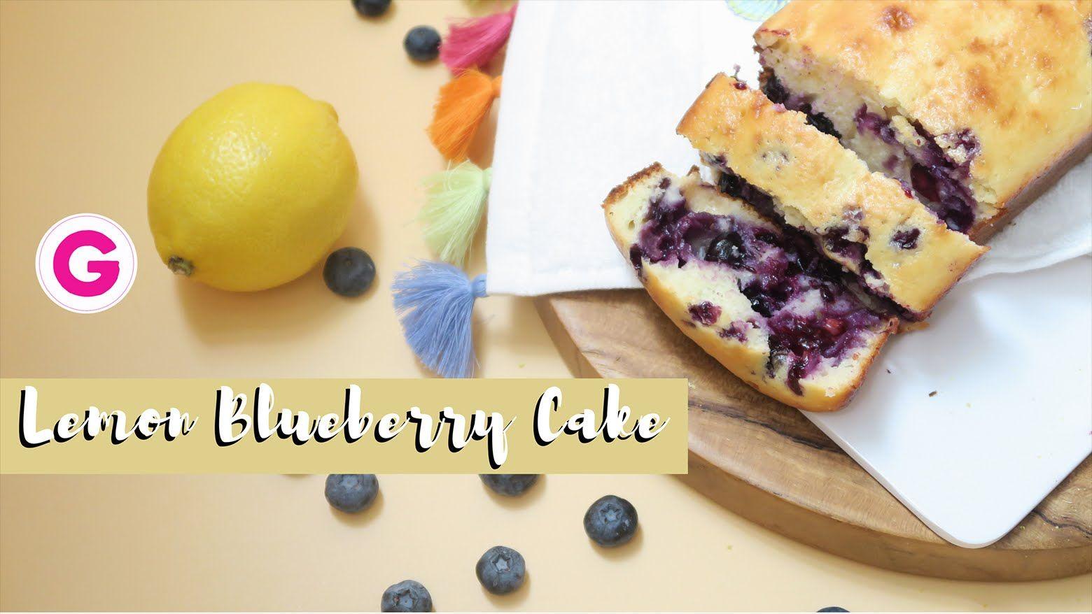 Lemon Blueberry Cake كيكة الليمون والتوت الأزرق Gege S Life Youtube Lemoncake Food Blog Cooking Recipes