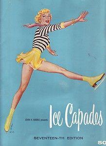Disneys ice capades of 1950 souvenir program.