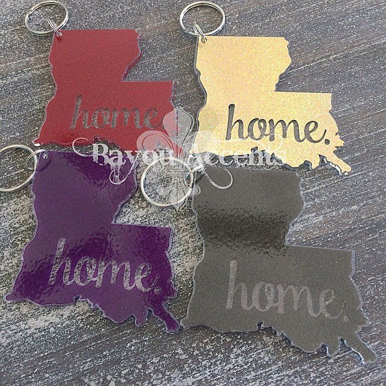 Louisiana Home Acrylic Keychain Crafty Momma Louisiana