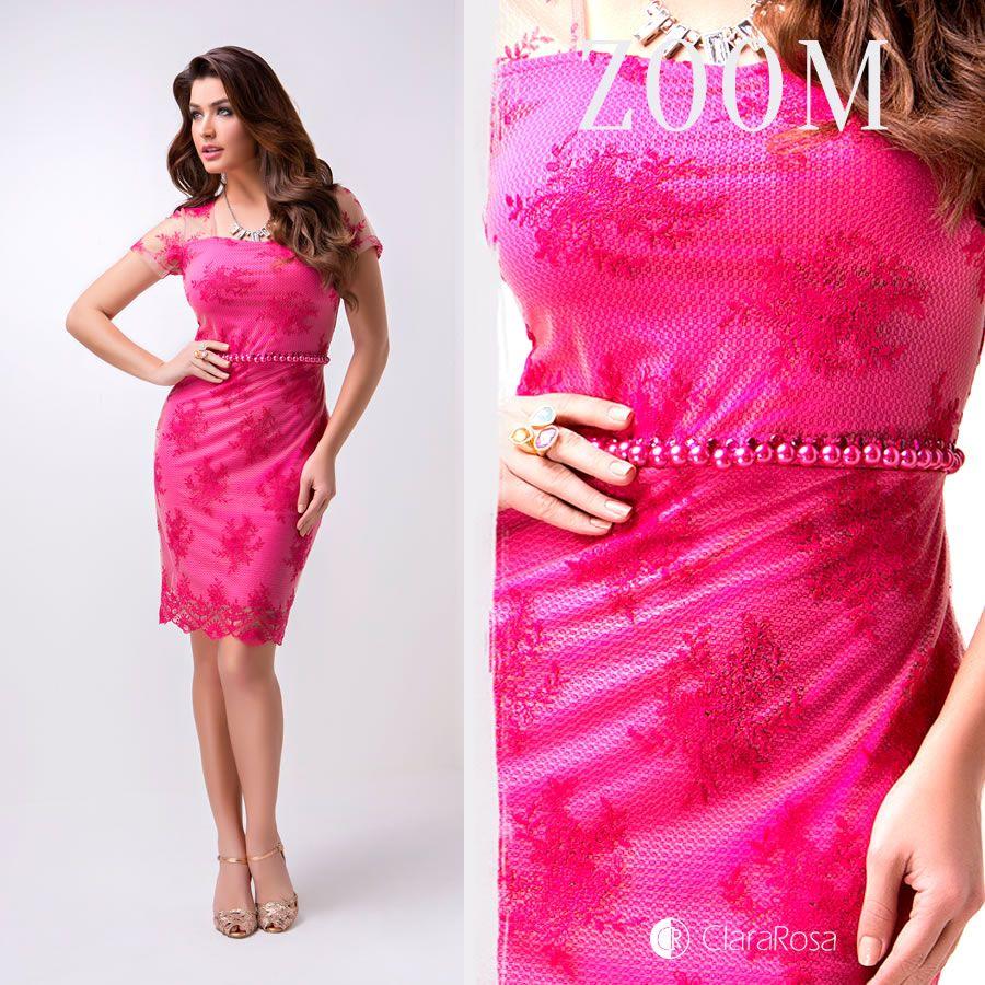Vestido rosa de renda Coleção Verão 2015 da Clara Rosa . | Coleção ...