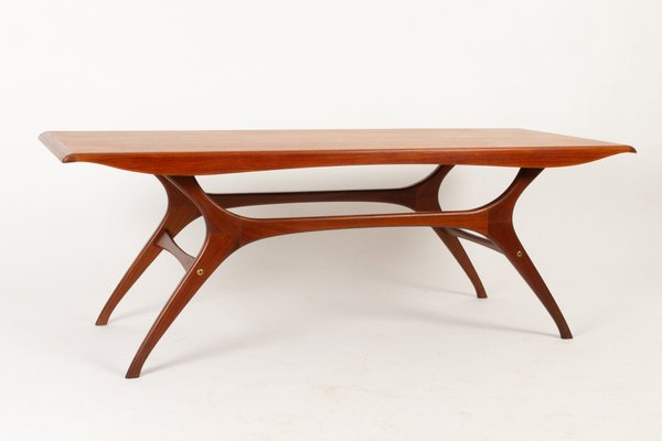 Danish Teak Veneered Coffee Table 1960s In 2020 Mid Century