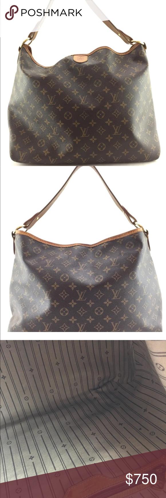 cb06771d45b Authentic Louis Vuitton Delightful MM Tote Louis Vuitton Monogram  Delightful MM Hobo Bag 6.5