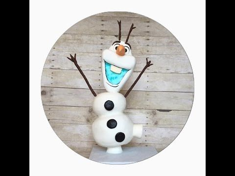 Standing Olaf Cake Tutorial - YouTube