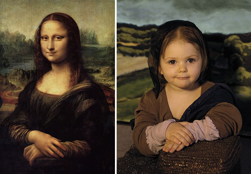 We Recreated Famous Paintings With Our Kids And Friends Mona