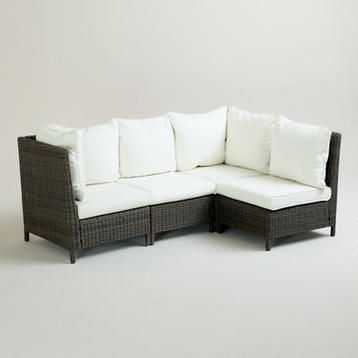 I Love This Patio Sectional World Market Solano Outdoor Sectional Col Outdoor Entertaining Decor Contemporary Outdoor Sofas Affordable Outdoor Furniture