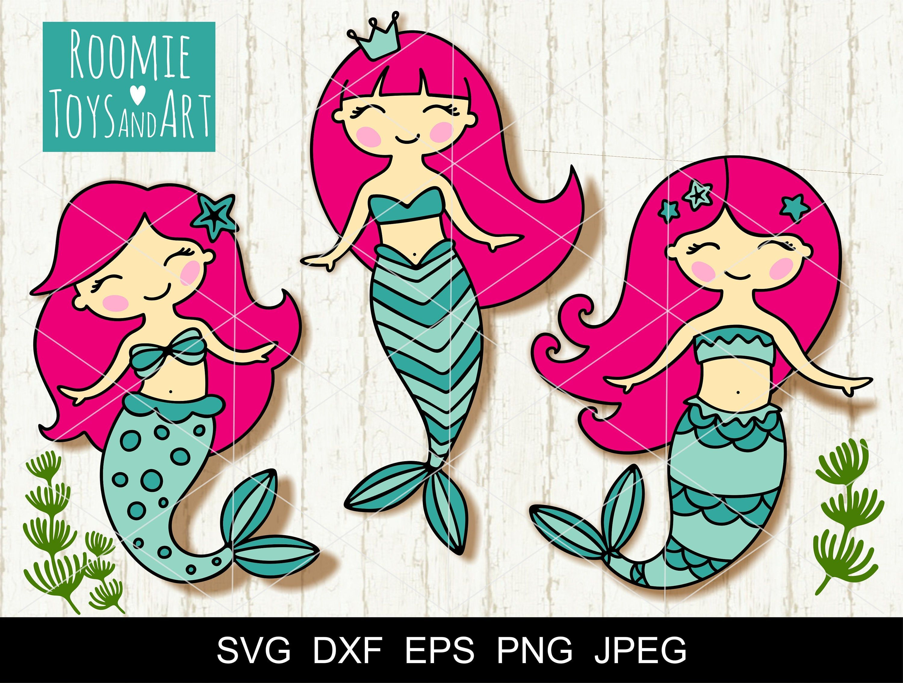 Mermaid SVG Little mermaid Svg Mermaid Birthday Girl SVG