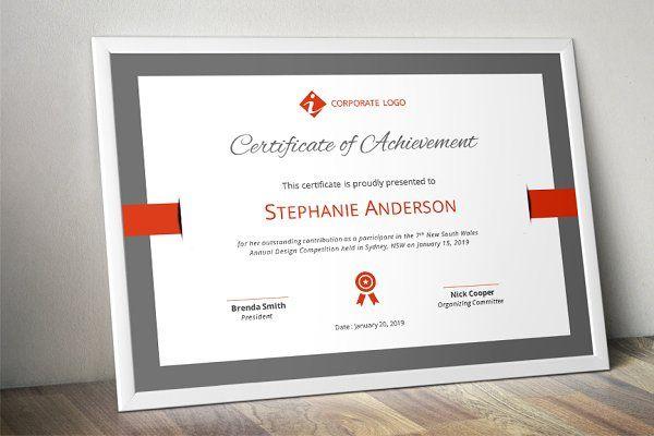 Elegant certificate template (docx) Certificate templates - corporate certificate template