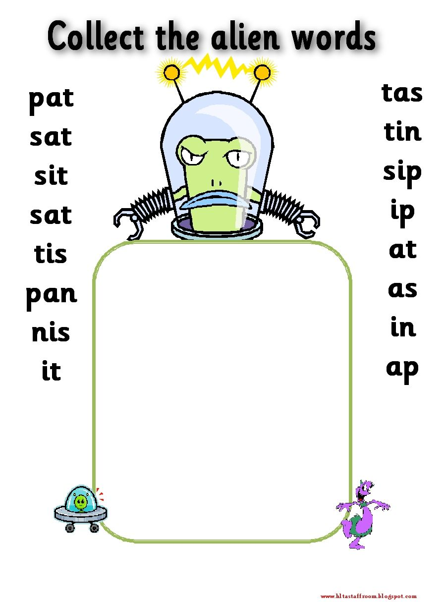 Phase 2 Collect The Alien Words Satpin To Make It Easier I Would Tell Group How Many Words They Are Collecting Phonics Lessons Phonics Phonics Activities Phonics reading activities phase 2