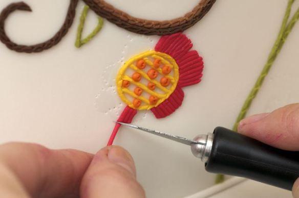 Needlework on Cake by Ron Ben Israel