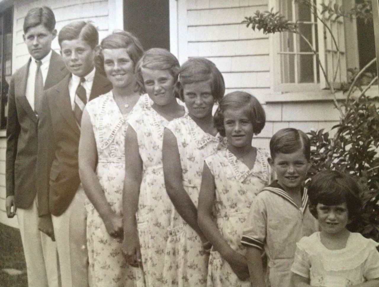 Joe Jr., Jack, Rosemary, Kick, Eunice, Pat, Bobby, and Jean