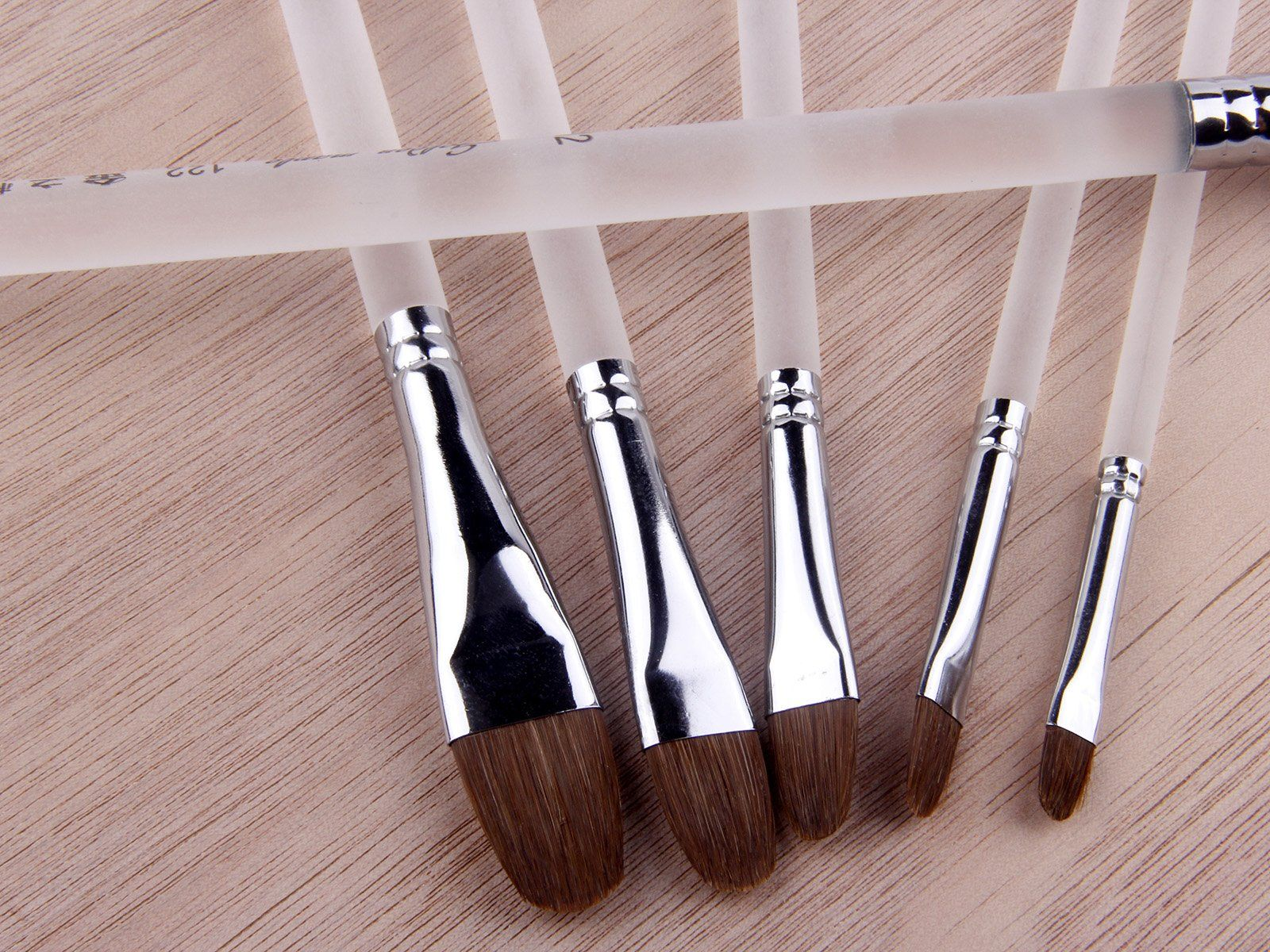 6pcs Red Sable Hair Paint Brushes For Acrylic Oil Gouche