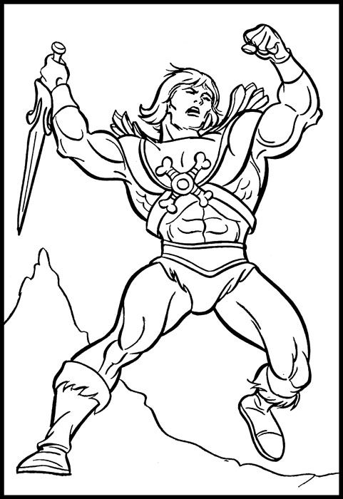 Image result for heman simple black and white line drawing Marvel