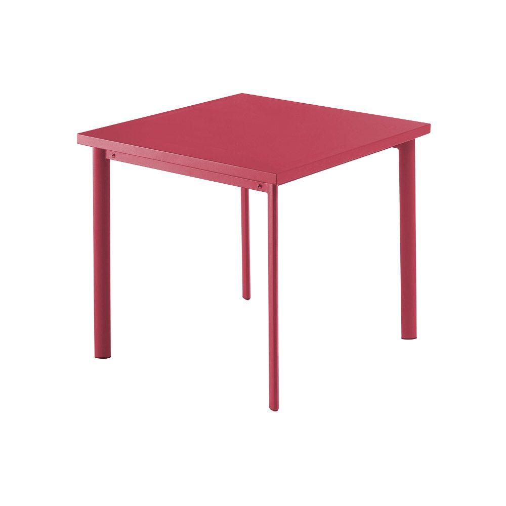Emu Gartentisch Quadratisch Star Alu Gartentisch Metallmobel Stahltisch