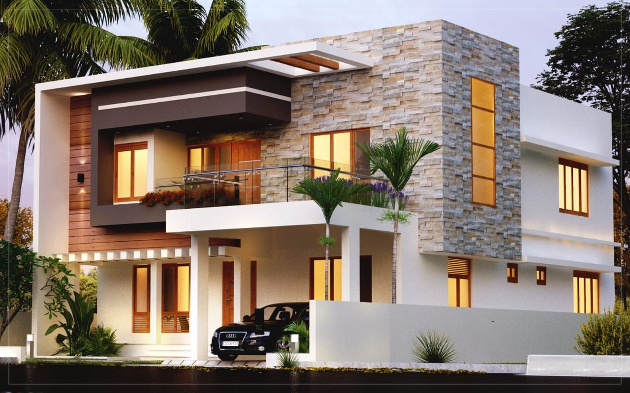 3 bed room residence in double storey 32 lakhs budget in ...