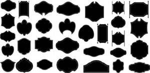 Plaque Silhouette Shape Shape Design Shapes Images Design
