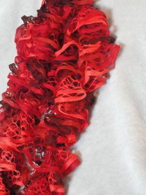 Ruffle Scarf ~ Cinnamon Candy $12.00